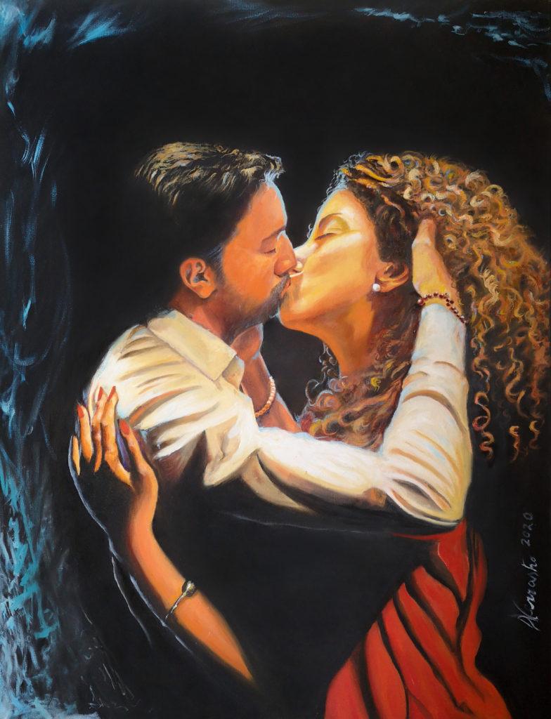 My Generation ha ispirato il quadro Il Bacio di Donatello Verrastro
